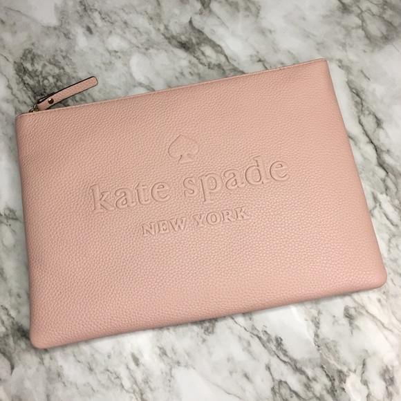 e5ca0f324 kate spade Bags | Nwt Nudepink Embossed Leather Clutch | Poshmark